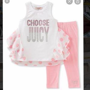 New juicy couture set 3t toddler set leggings top